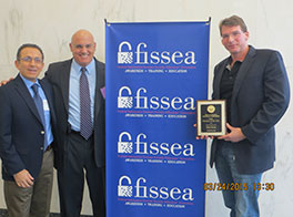 FISSEA Educator of the Year - Posthumously Shon Harris, Logical Security. Accepting the award were Michael Lester and Hamid