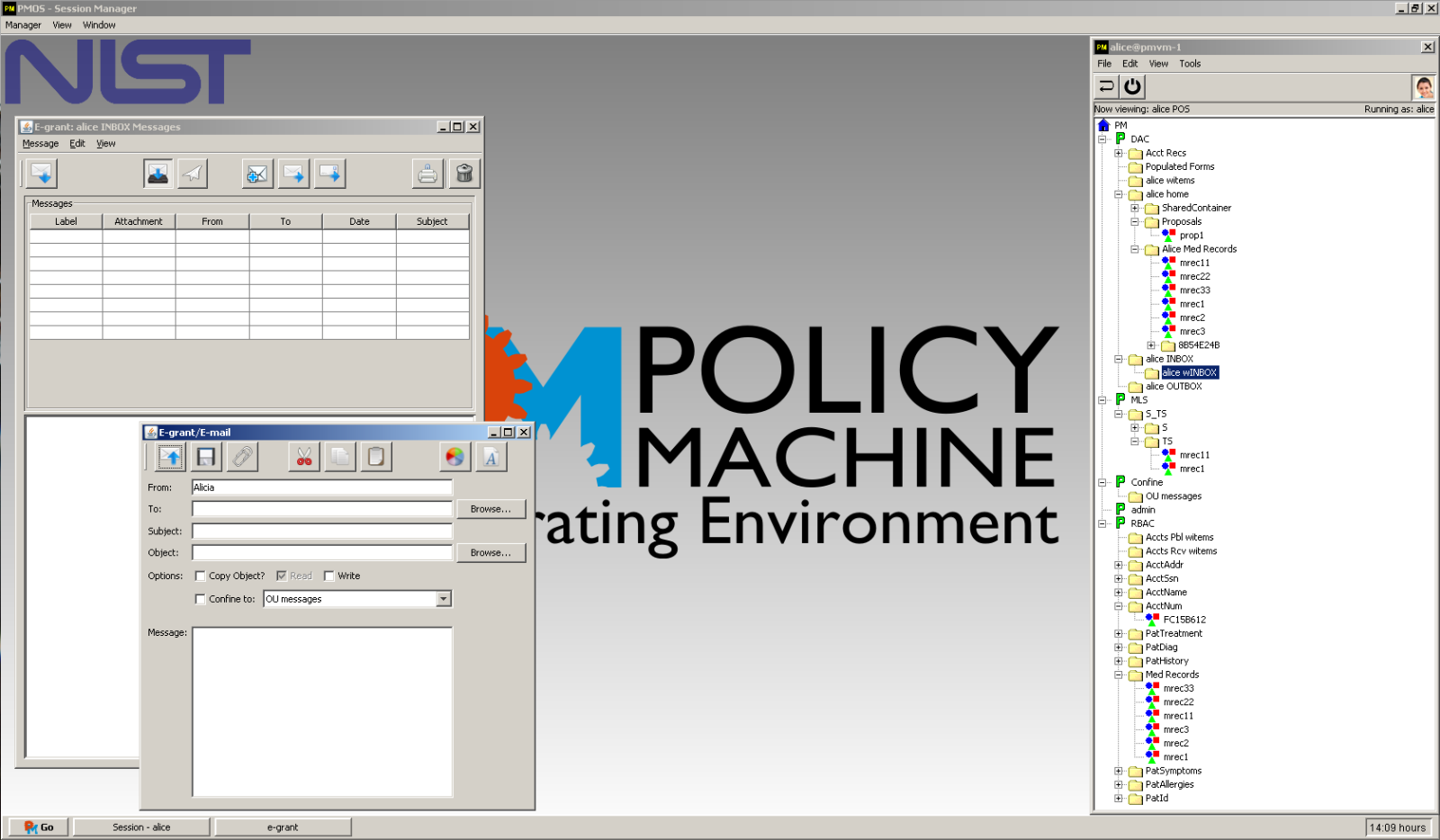 Policy Machine Operating Environment